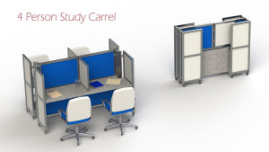 [image] - 4-person-hotelling-or-study-carrel-folded-and-installed-swift-space